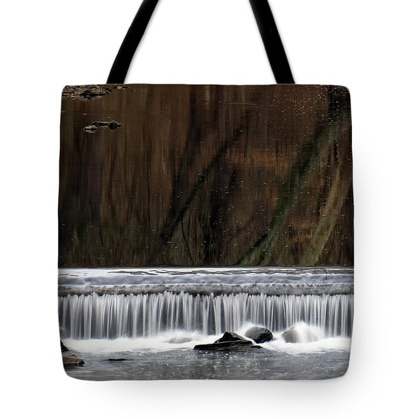 Tote Bag featuring the photograph Reflections And Water Fall by Dorin Adrian Berbier