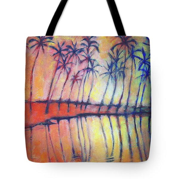 Tote Bag featuring the painting Reflections by Angela Treat Lyon