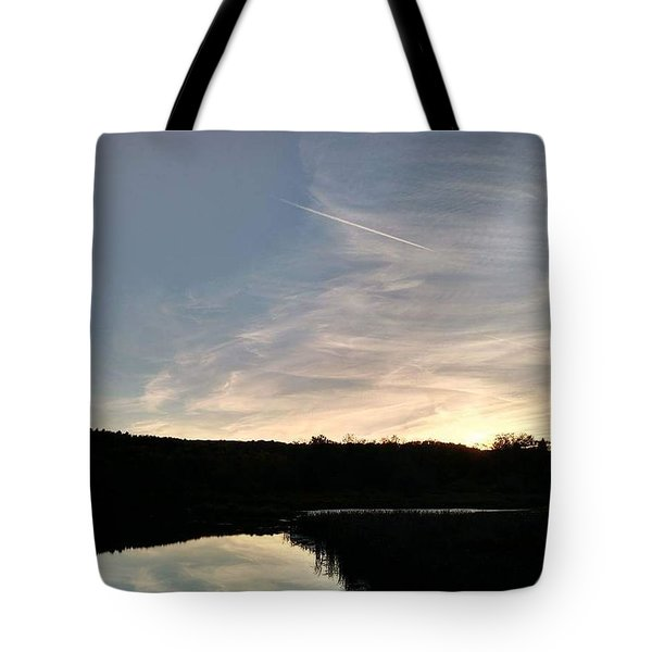Reflections At Dusk Tote Bag by Krys Whitney