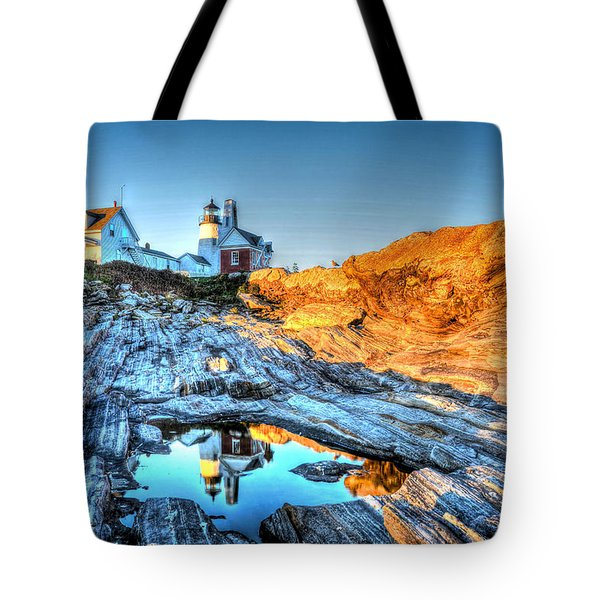 Reflections At Pemaquid Point Tote Bag