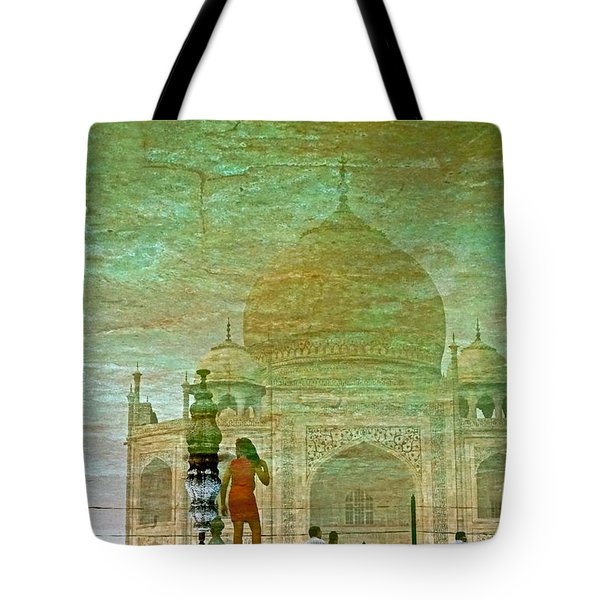 Reflections At The Taj Tote Bag