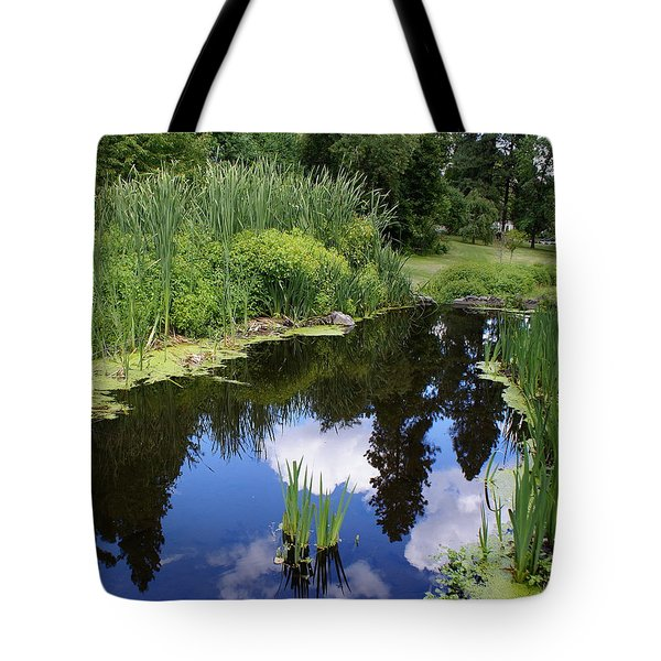 Tote Bag featuring the photograph Reflections by Ben Upham III