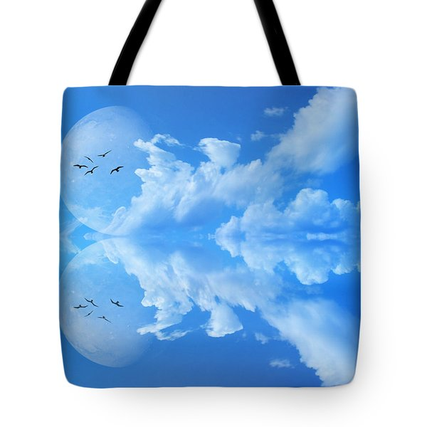 Tote Bag featuring the photograph Reflections by Bernd Hau