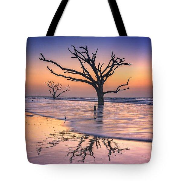 Reflections Erased - Botany Bay Tote Bag by Rick Berk