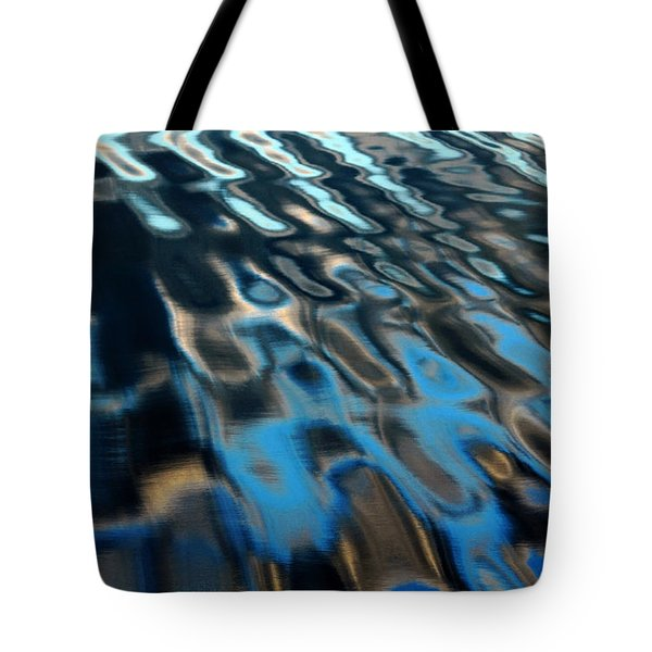 Tote Bag featuring the photograph Reflections From A Dock by Debbie Oppermann