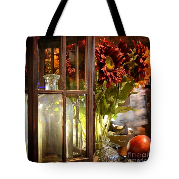 Reflections In A Glass Bottle Tote Bag
