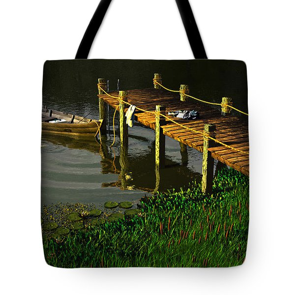 Reflections In A Restless Pond Tote Bag