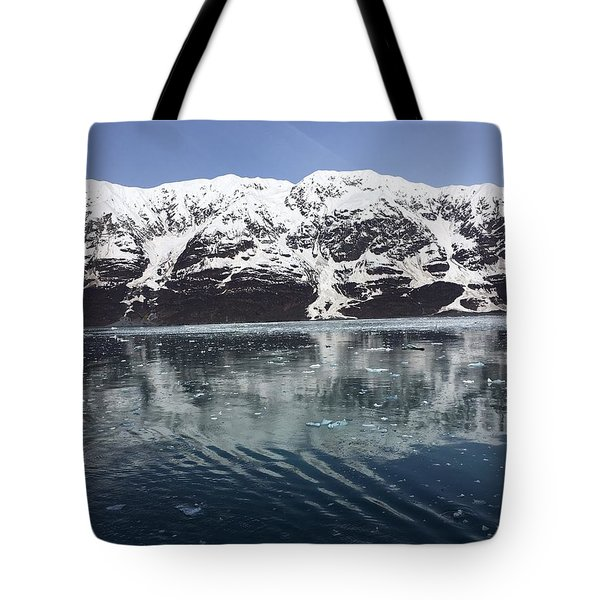 Reflections In Icy Point Alaska Tote Bag