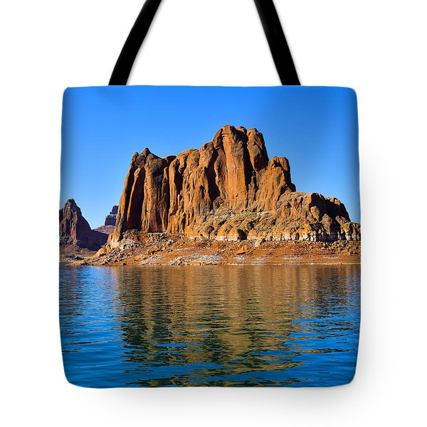 Tote Bag featuring the photograph Lake Powell Reflections by Dany Lison