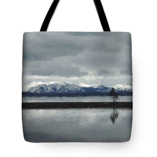 Reflections In Lake Yellowstone Tote Bag
