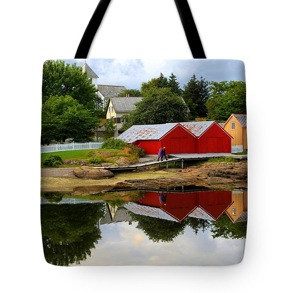 Reflections In Rorvik Tote Bag