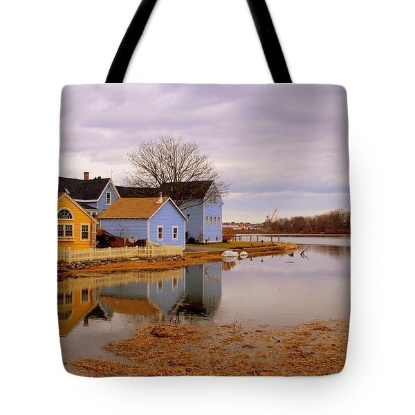 Reflections In The Harbor Tote Bag
