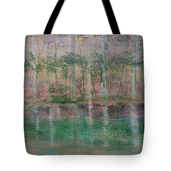 Reflections In The Mist Tote Bag by Judi Goodwin