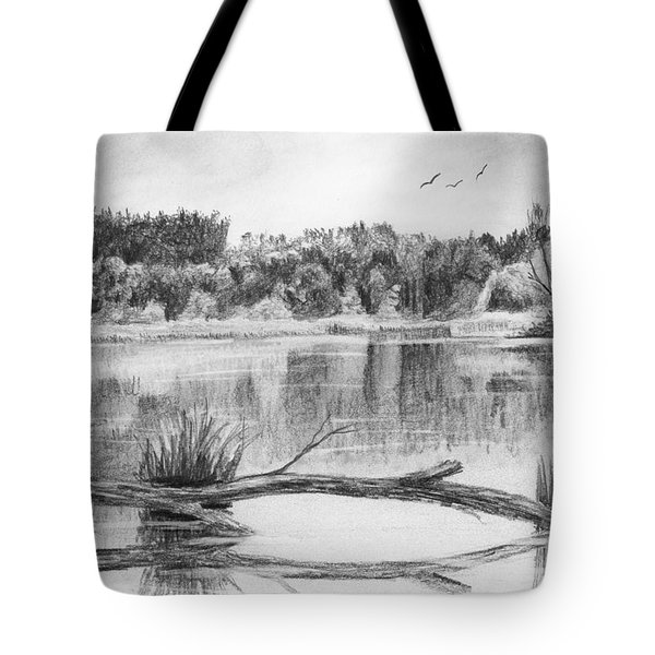 Reflections In The Water Tote Bag by Nolan Clark