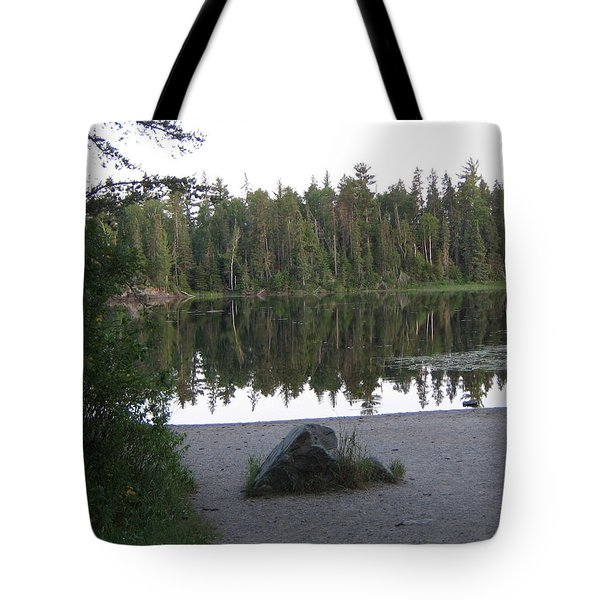 Tote Bag featuring the photograph Reflections Lake 1 by Barbara Yearty