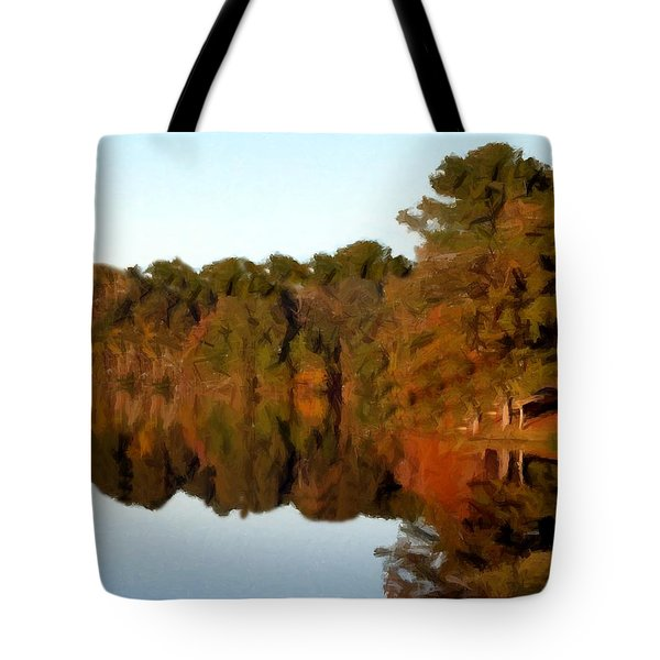 Reflections Of A Pennsylvania Autumn Tote Bag by David Dehner