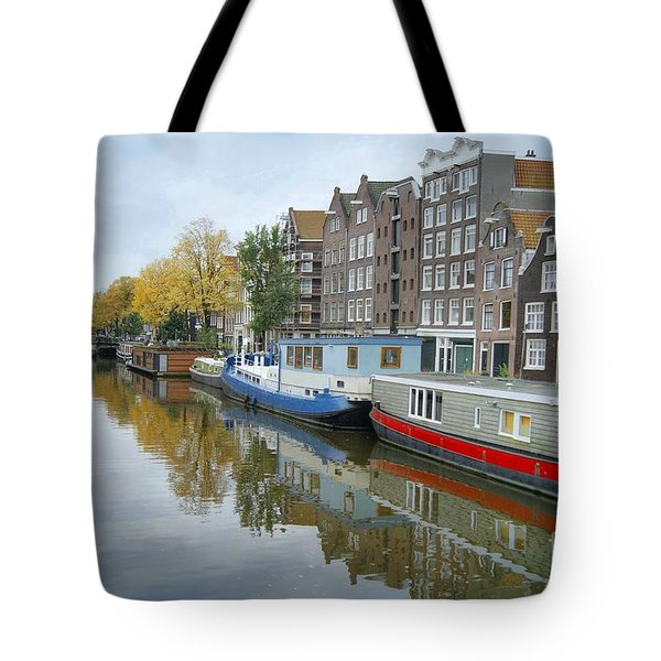 Tote Bag featuring the photograph Reflections Of Amsterdam by David Birchall