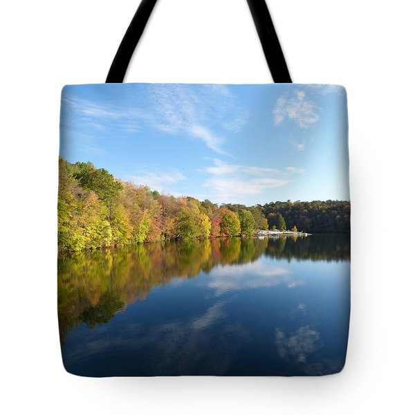 Reflections Of Autumn Tote Bag by Donald C Morgan