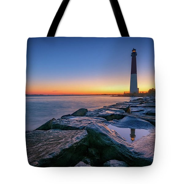 Reflections Of Barnegat Light Tote Bag