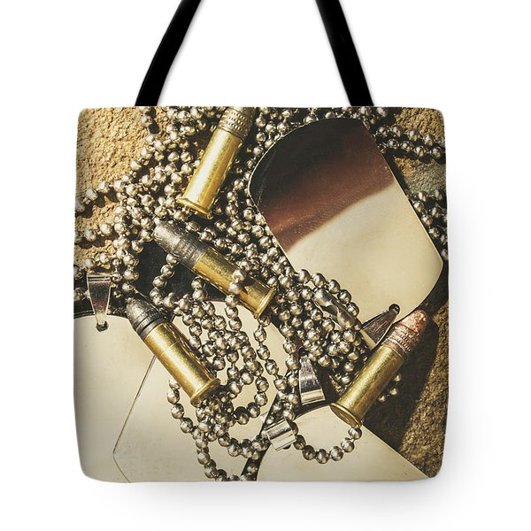 Tote Bag featuring the photograph Reflections Of Battle by Jorgo Photography - Wall Art Gallery