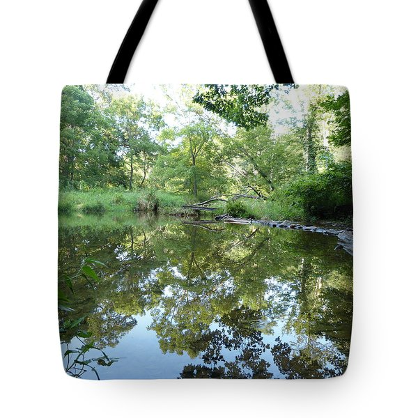 Tote Bag featuring the photograph Reflections Of Beetree Run by Donald C Morgan
