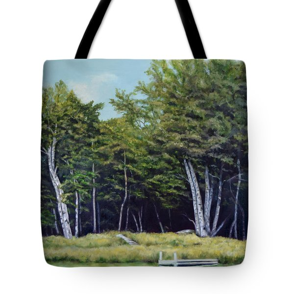 Reflections Of Birches Tote Bag