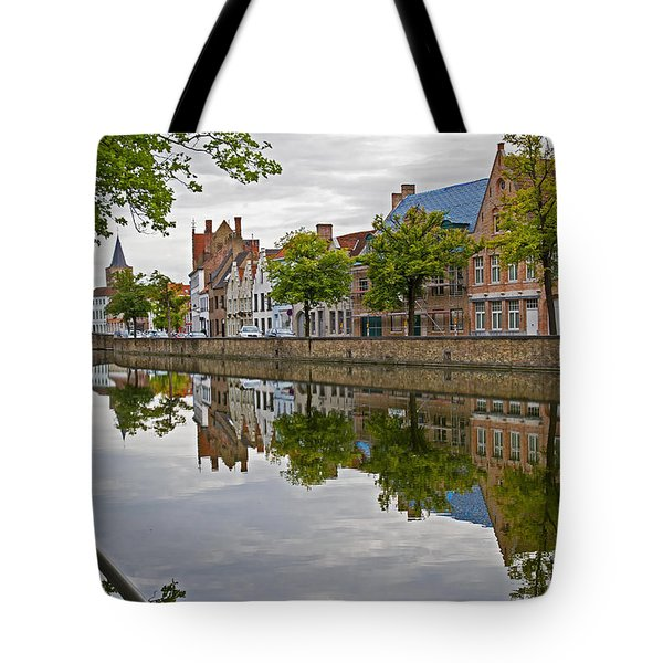 Reflections Of Brugge Tote Bag
