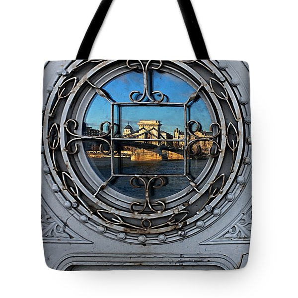 Reflections Of Budapest Tote Bag