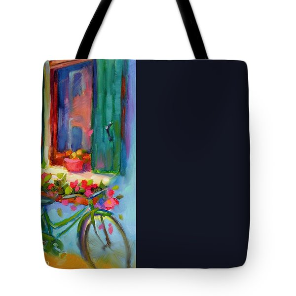 Reflections Of Burano Tote Bag by Chris Brandley