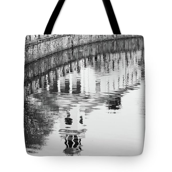 Reflections Of Church 2 Tote Bag by Karol Livote
