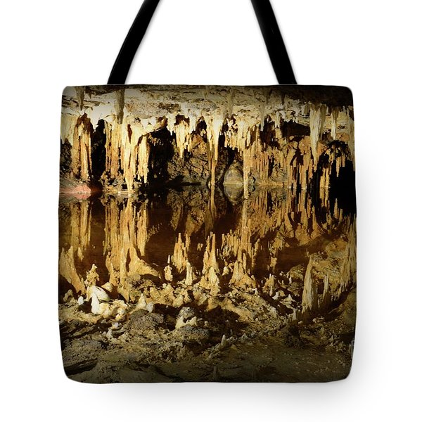 Tote Bag featuring the photograph Reflections Of Dream Lake At Luray Caverns by Paul Ward