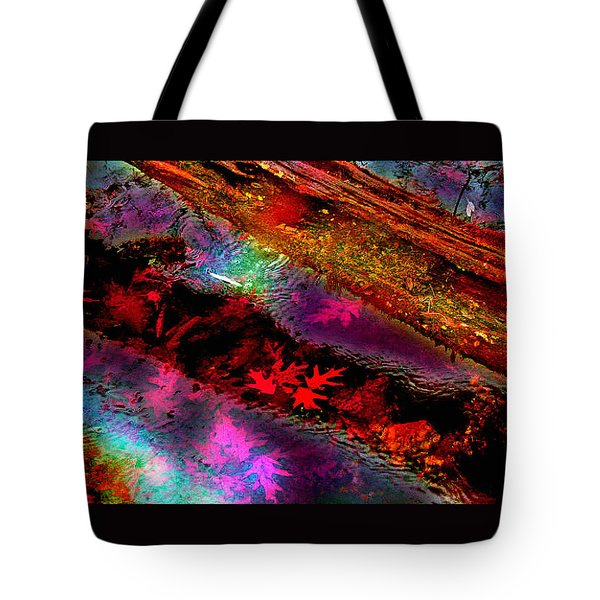 Reflections Of Fall Tote Bag by Julie Grace