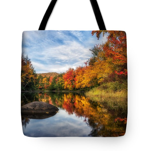 Reflections Of Fall Tote Bag by Mark Papke