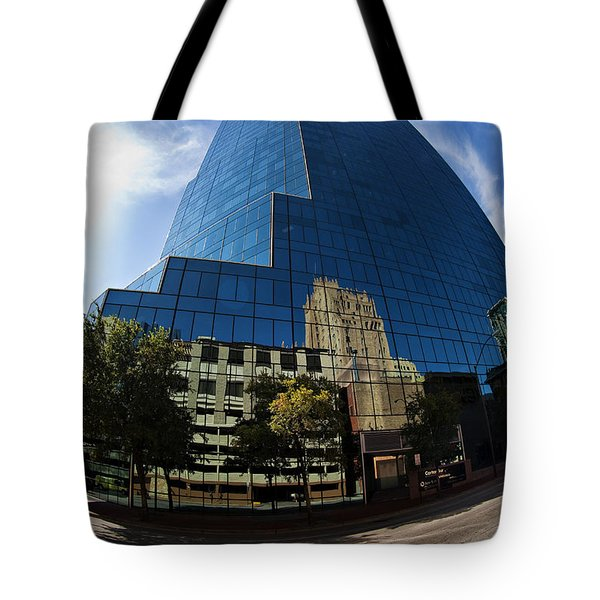 Reflections Of Fort Worth Tote Bag