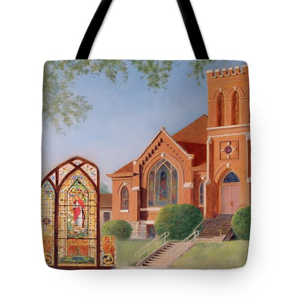 Tote Bag featuring the painting Reflections Of God's Love by Nancy Lee Moran