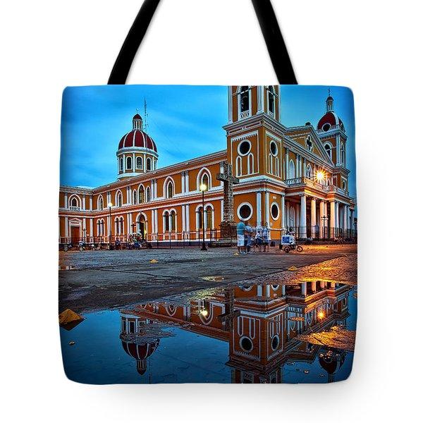 Reflections Of Granada, Nicaragua  Tote Bag
