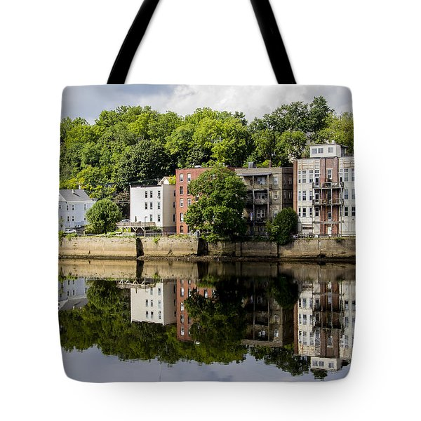 Reflections Of Haverhill On The Merrimack River Tote Bag