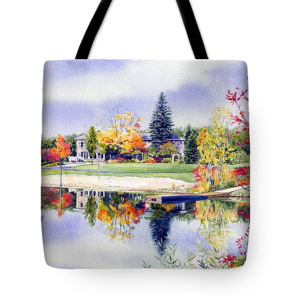 Reflections Of Home Tote Bag by Hanne Lore Koehler