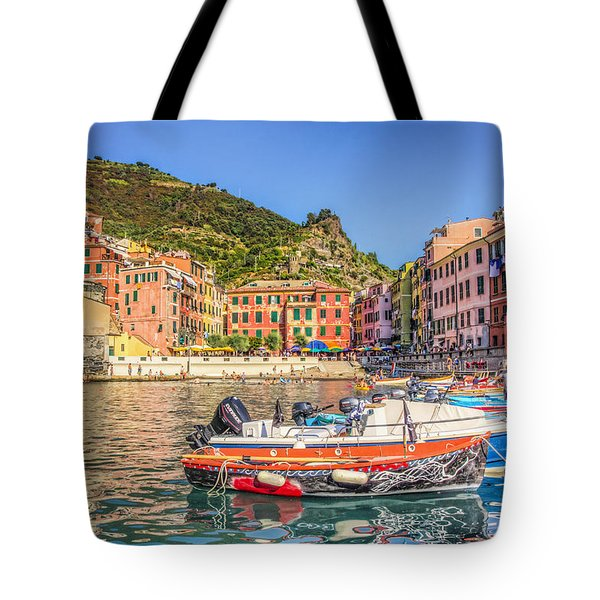 Reflections Of Italy Tote Bag by Brent Durken