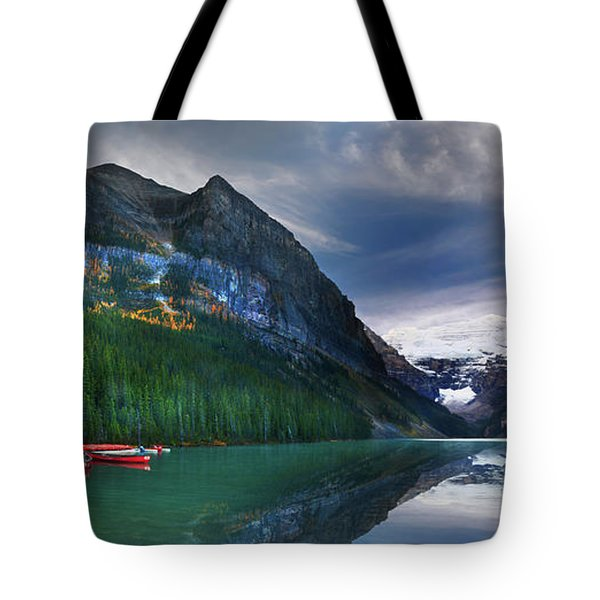 Tote Bag featuring the photograph Reflections Of by John Poon