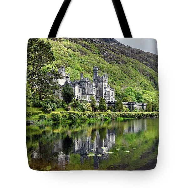 Reflections Of Kylemore Abbey Tote Bag