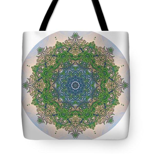 Reflections Of Life Mandala Tote Bag
