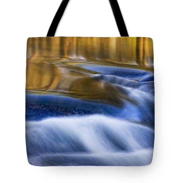 Tote Bag featuring the photograph Reflections  Of Linville River by Ken Barrett