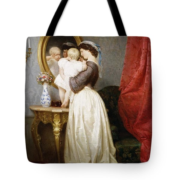 Reflections Of Maternal Love Tote Bag by Robert Julius Beyschlag