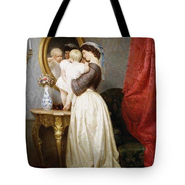 Reflections Of Maternal Love Tote Bag by Robert Julius Beyschlag