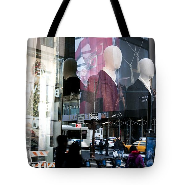 Tote Bag featuring the photograph Reflections Of New York by Allen Carroll