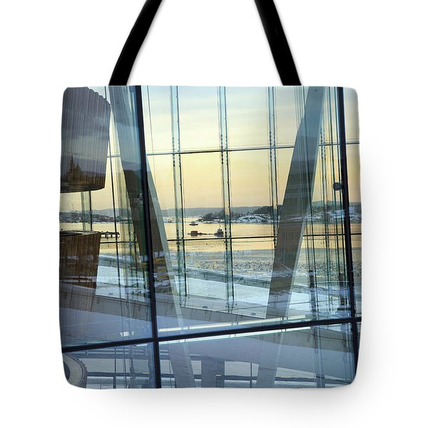 Tote Bag featuring the photograph Reflections Of Oslo by David Chandler