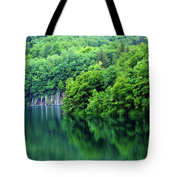 Reflections Of Plitvice, Plitvice Lakes National Park, Croatia Tote Bag