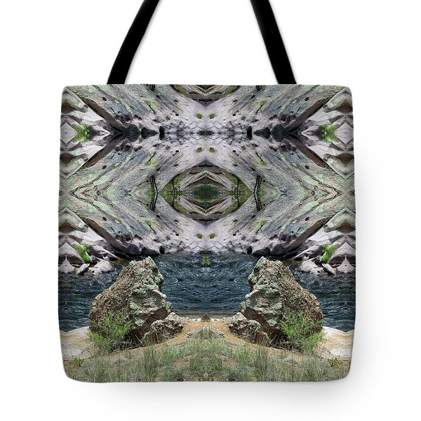 Reflections Of Self Before Entering The Vortex Tote Bag