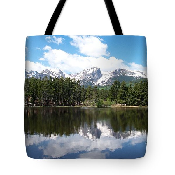 Reflections Of Sprague Lake Tote Bag by Dorrene BrownButterfield